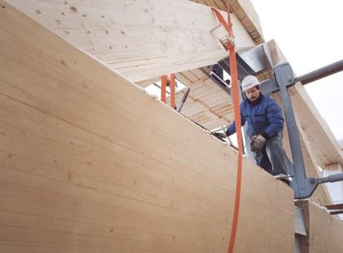 Limträ ger säkrare byggarbetsplatser