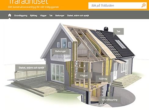 Trärådhuset - ny sajt från Svenskt Trä visar hur ett hus ska byggas