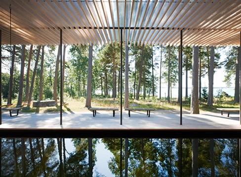 Skogssauna vid Gävlebukten vinnare av Träpriset 2012