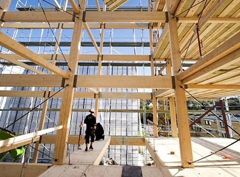 Kina satsar på träbyggande
