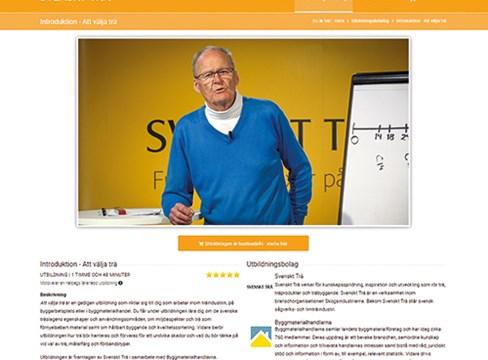 Ny webbutbildning säkerställer gedigen träkunskap