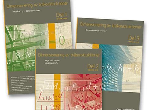 Publikationen Dimensionering av träkonstruktioner Del 1-3 uppdaterad till EKS 10