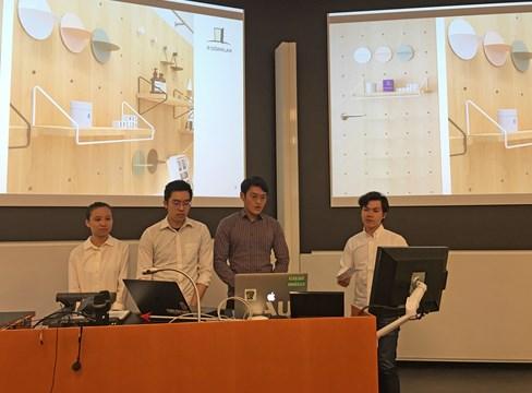 Singaporianska studenter på Kungliga Tekniska högskolan, KTH, identifierar nya tillämpningar för svensk furu