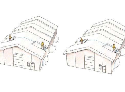 Fem tips – säker snöskottning på tak