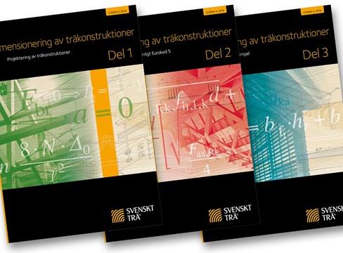 Handböckerna Dimensionering av träkonstruktioner Del 1–3 uppdaterade till EKS 11