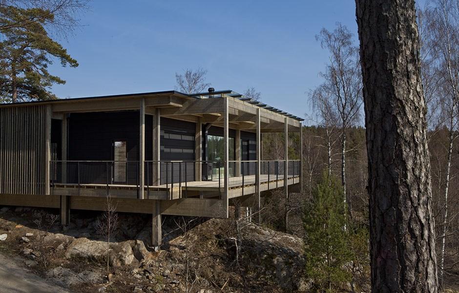 Hållbara hem bland trädkronorna