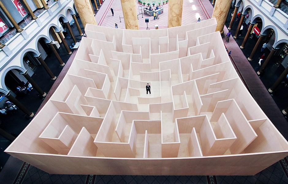 En omvänd labyrint