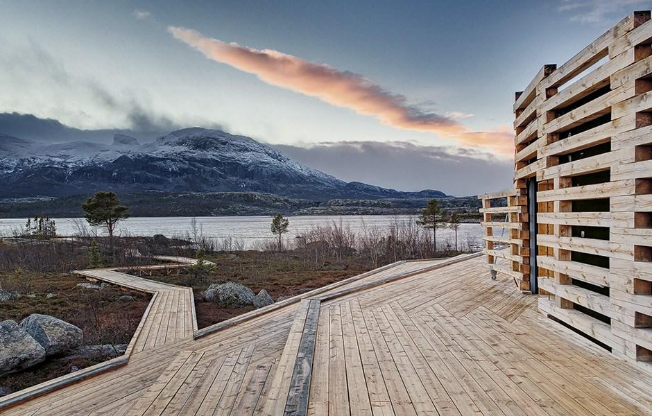 Naturum Laponia skapades för extremt väder