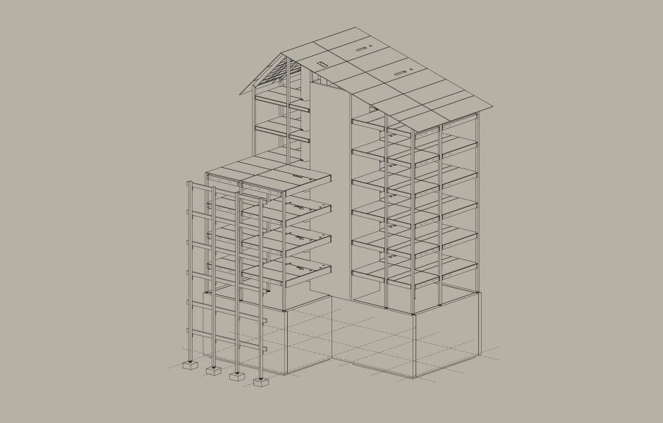Höga hus i trä byggs med modern teknik