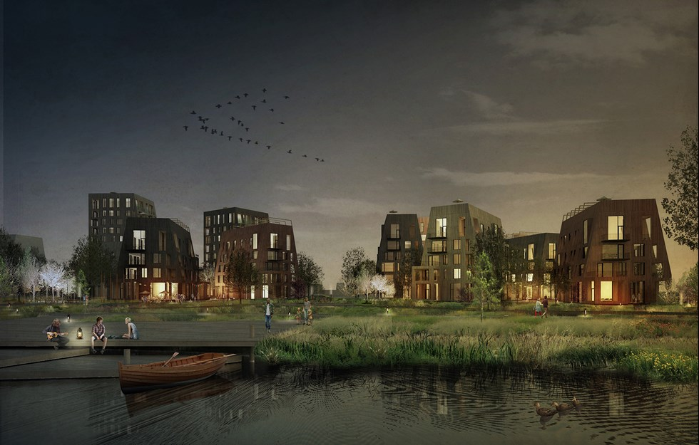 Ny stadsdel formas i trä
