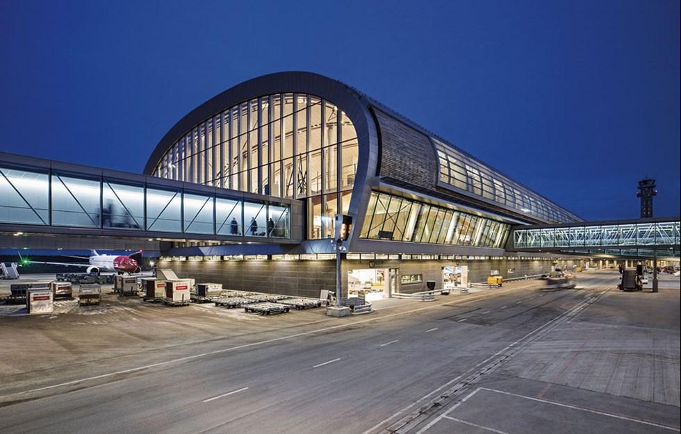 Naturliga material på världens grönaste flygplats