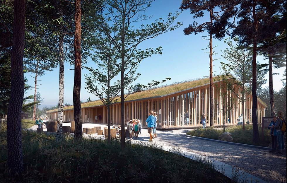 Skogen flyttar in på museum