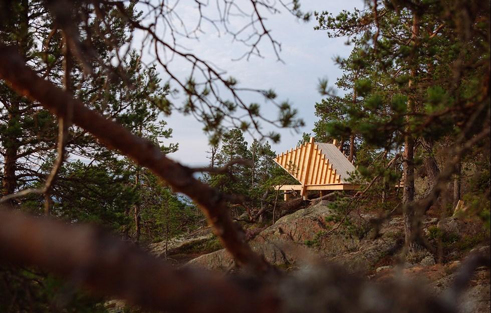 Kreativa vindskydd tänjer gränser i skön natur