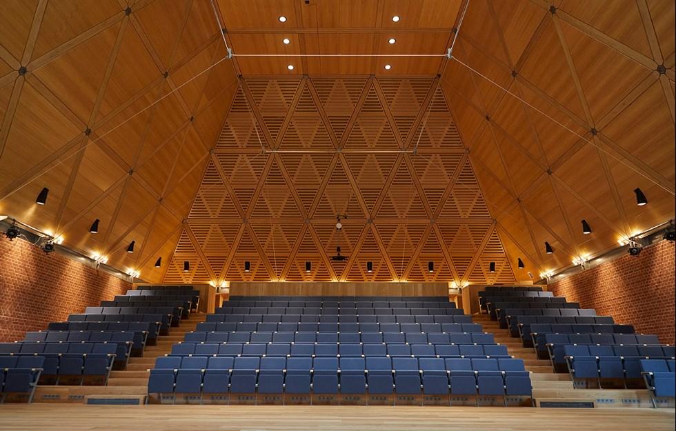 Möte mellan matematik och musik skapar rymd med god akustik
